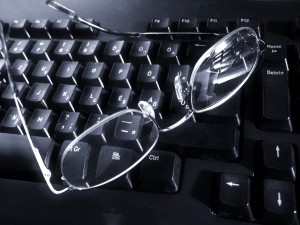 Glasses on Computer
