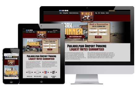 Winner Airport Parking - Philadelphia Web Design Company