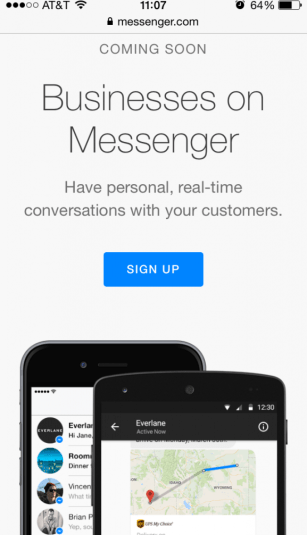 Businesses on Messenger