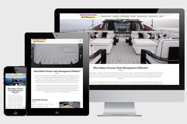 Premier Yacht Management INC Web Design