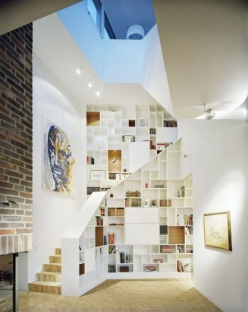 staircase home library