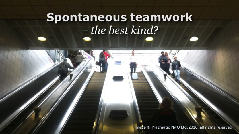 Spontaneous teamwork - the best kind