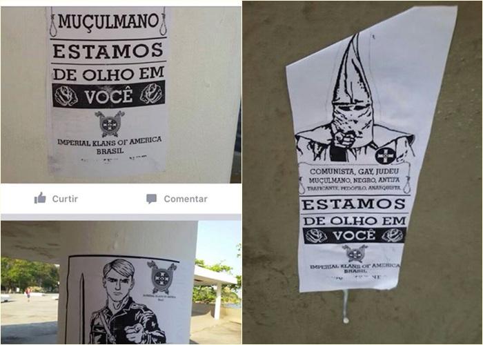 Ku Klux Klan Brasil cartazes