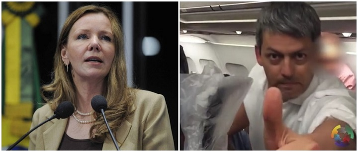 Vanessa avião voo agredida LATAM
