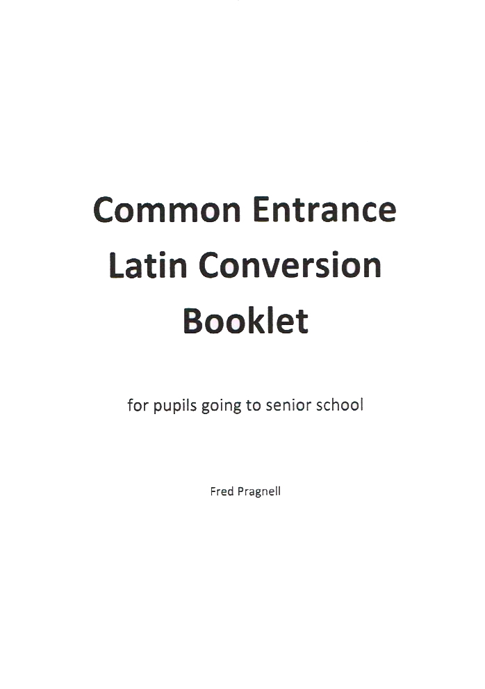 Common Entrance and Latin Course Books