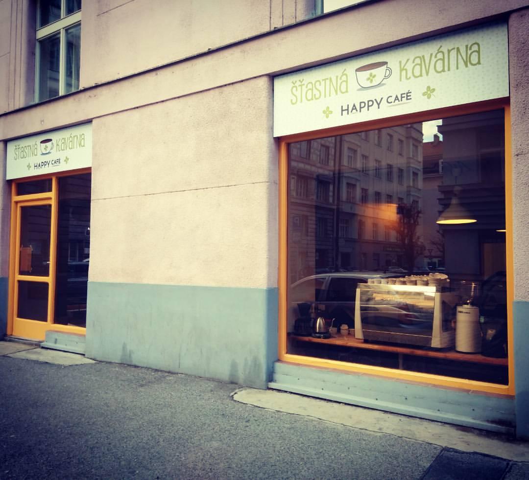 Glckliches Caf  Pragueeu