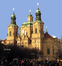 St Nicholas Church at Old Town Square in Prague  Prague