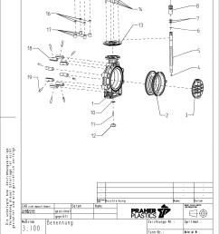 drawing butterfly valve k4 lug type [ 1920 x 2716 Pixel ]