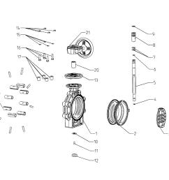 drawing butterfly valve k4 hand wheel lug type [ 1543 x 1089 Pixel ]