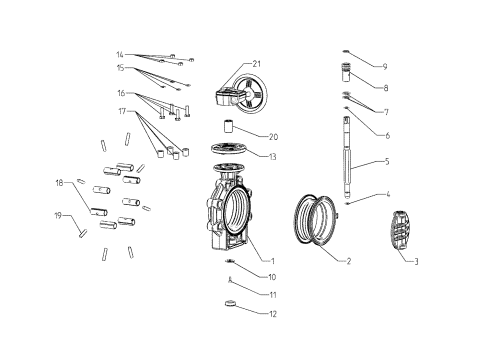 small resolution of drawing butterfly valve k4 hand wheel lug type