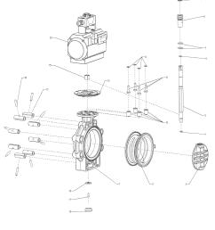 drawing butterfly valve k4 pneumatic actuator lug type [ 1461 x 1891 Pixel ]
