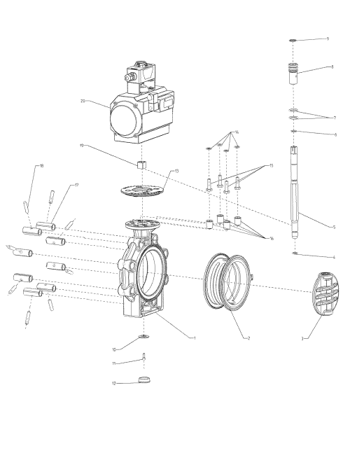 small resolution of drawing butterfly valve k4 pneumatic actuator lug type