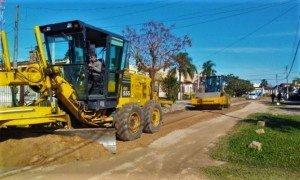 A PATROLA e o rolo compressor foram utilizadas para melhorar seis ruas da praia