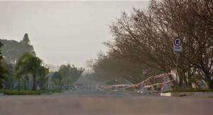 Laranjal teve a orla fechada para trânsito de veículos