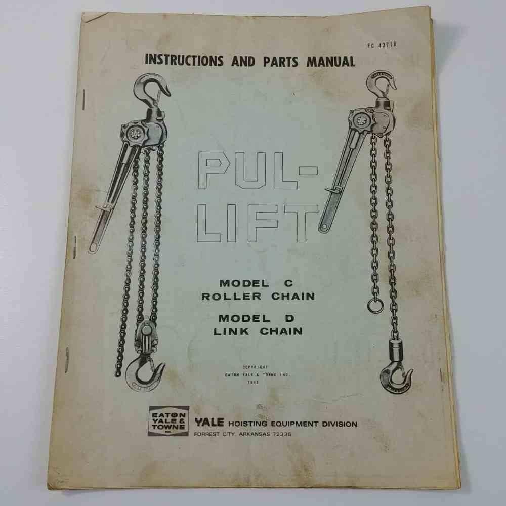 medium resolution of instructions parts manual lift model c roller chain