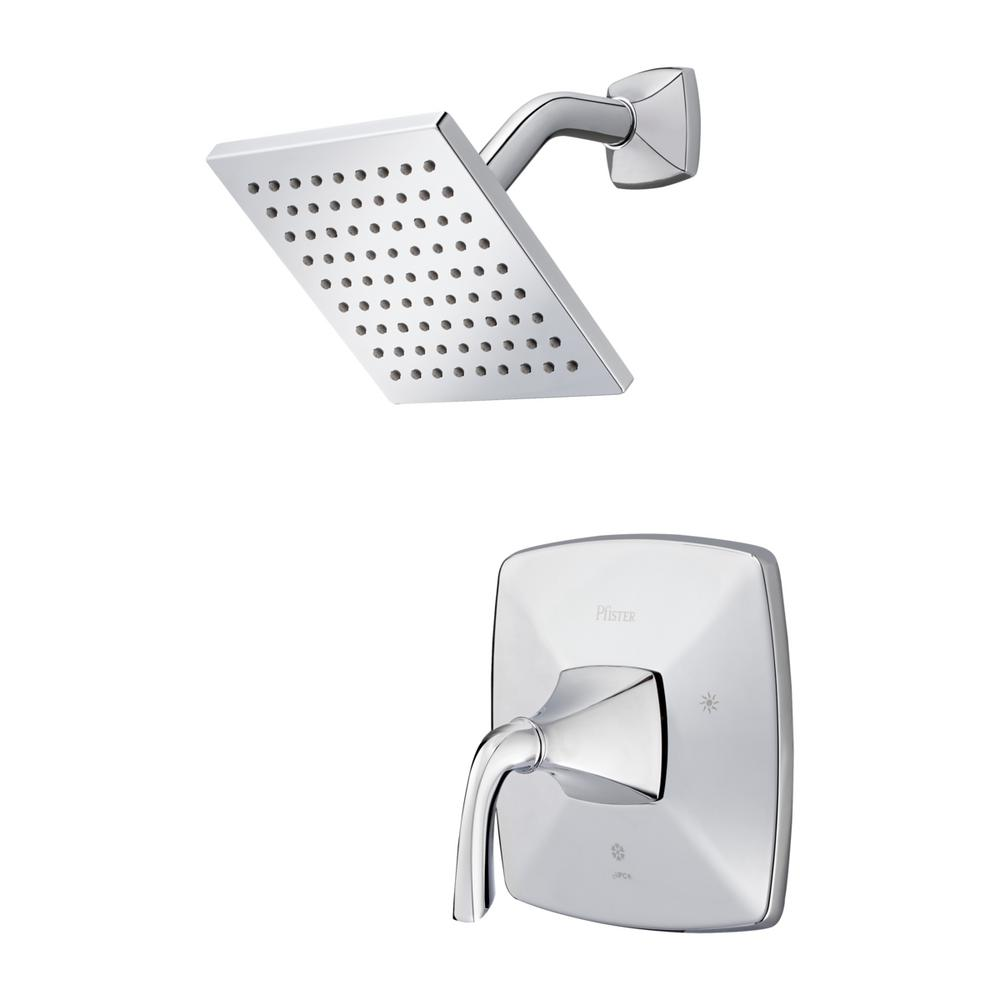 pfister bronson lg89 7bsc 1 handle shower faucet trim kit in polished chrome valve not included