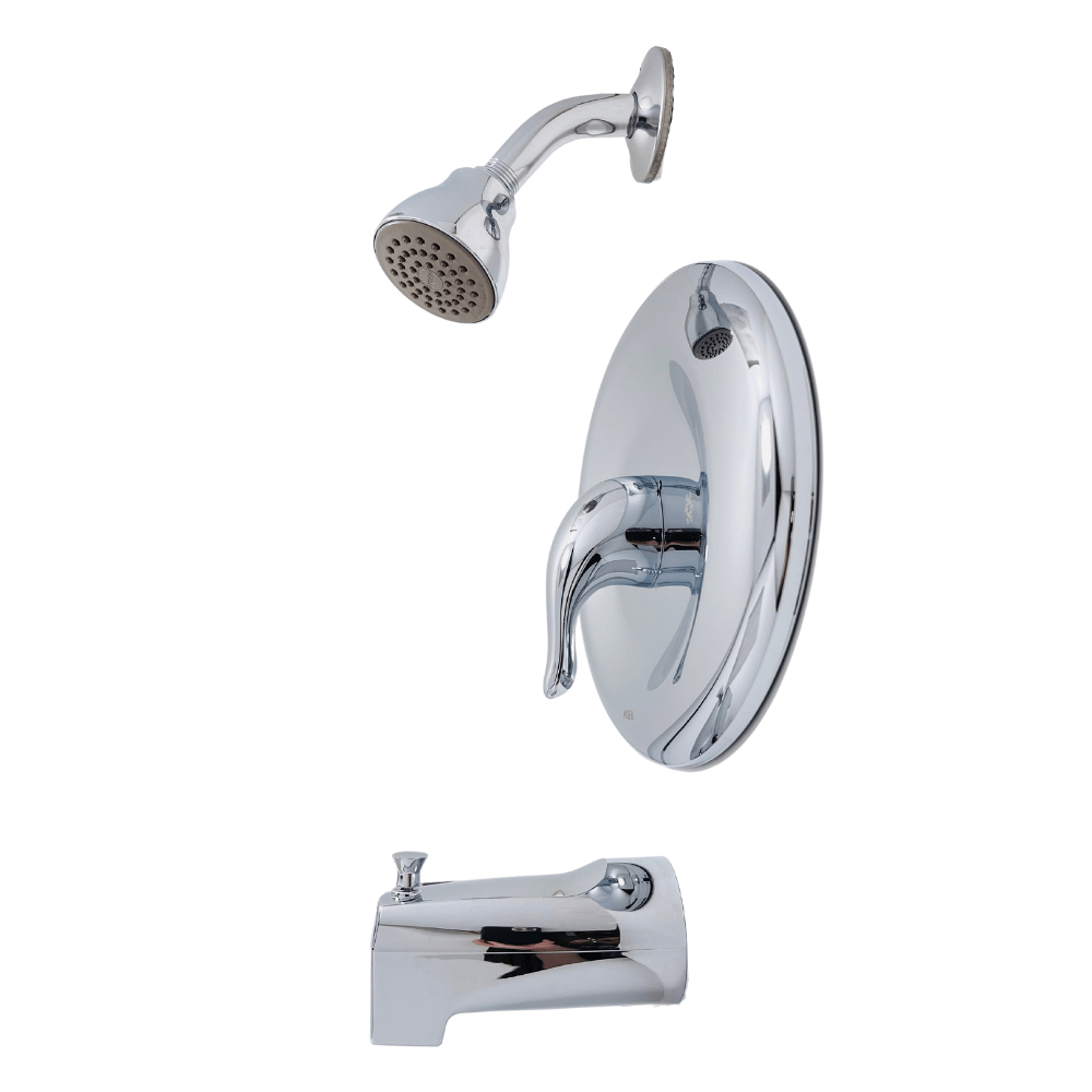 moen chateau l2369ep single handle 1 spray tub and shower faucet in chrome valve included