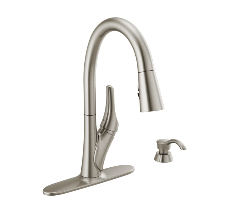 delta rochester 19795z spsd dst single handle pull down sprayer kitchen faucet with shieldspray technology in spotshield stainless