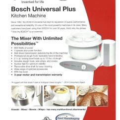Bosch Kitchen Mixer Ways To Redo Cabinets Dealer Alberta Mixers Universal Plus