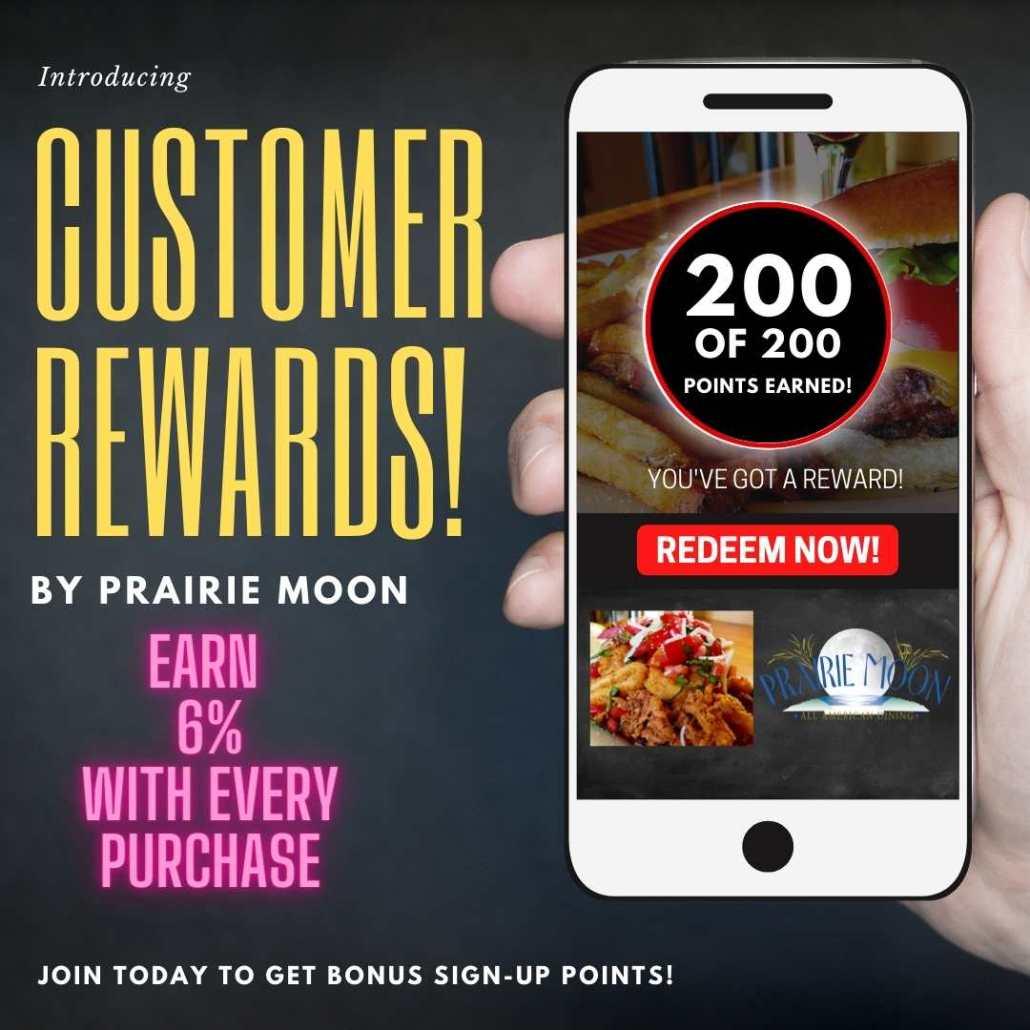 Restaurant loyalty program evanston prairie moon