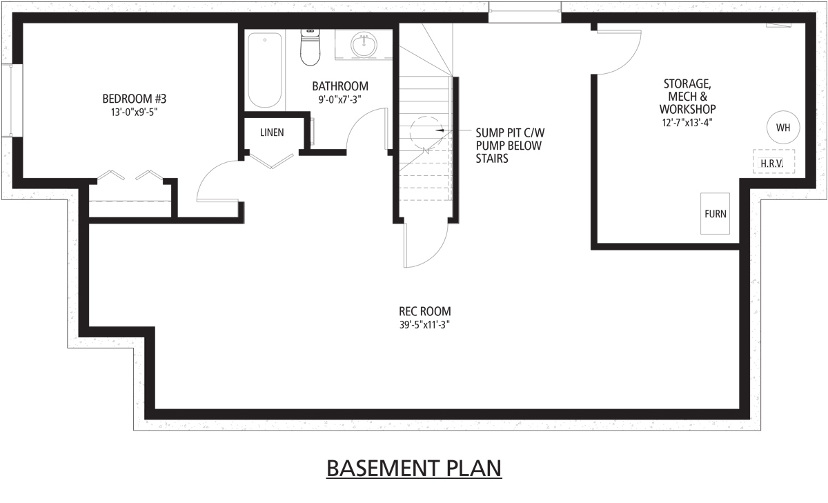 Beaudry Basement floorplan