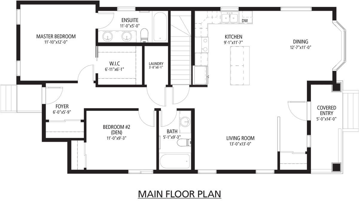 Beaudry Main Floorplan