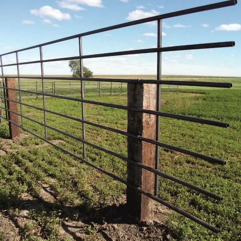 7-bar 20 ft continuous livestock fence panel