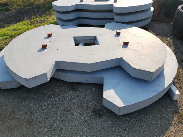 10' concrete cover