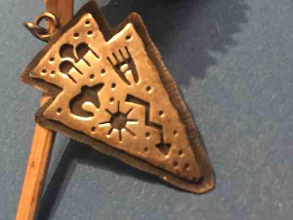 , Hopi Künstler – Overlay Pfeilspitzen mit Hopi-Designs