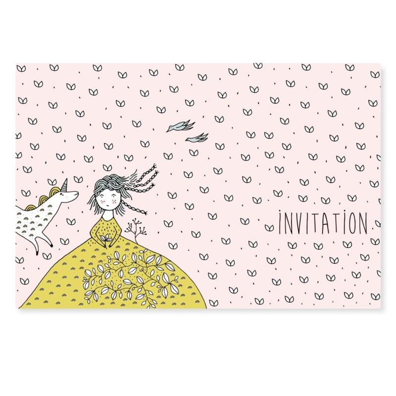 cartes d invitations licorne