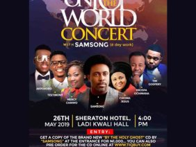 "Samsong ""OnTopofTheWorld Concert"" To Sweep Abuja By Storm on 26th May, 2019"
