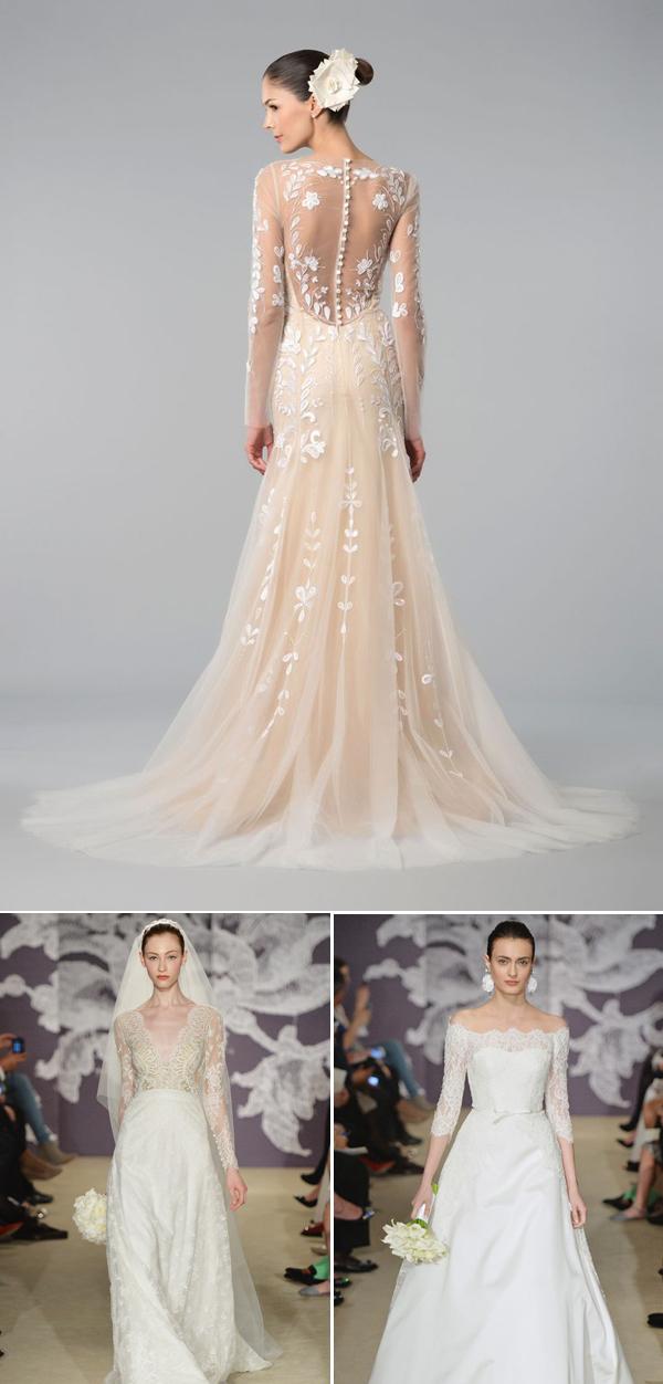 30 of the Most Beautiful Long Sleeve Wedding Dresses of 2015  Praise Wedding