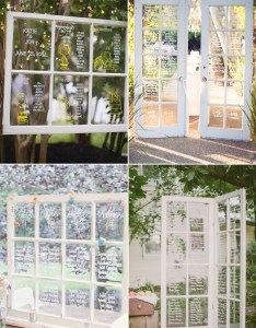 Seatingchart doorwindow also creative reception seating chart and place card ideas your guests rh praisewedding