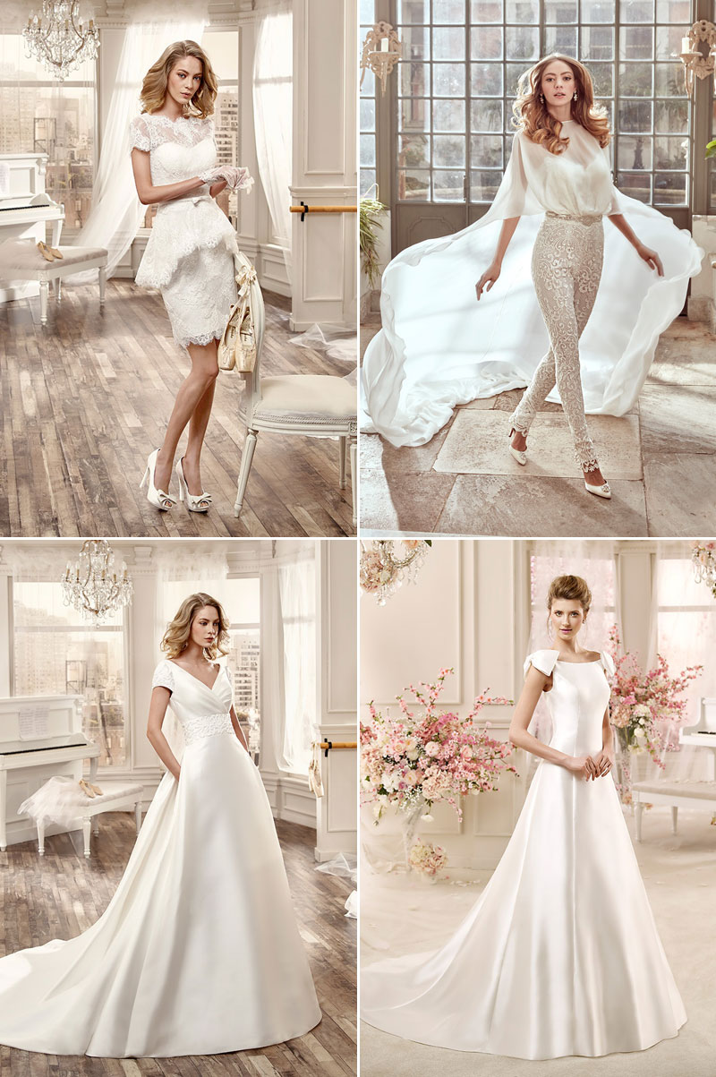24 Sophisticated Modern Wedding Gowns and Pant Suits for Cool Brides  Praise Wedding