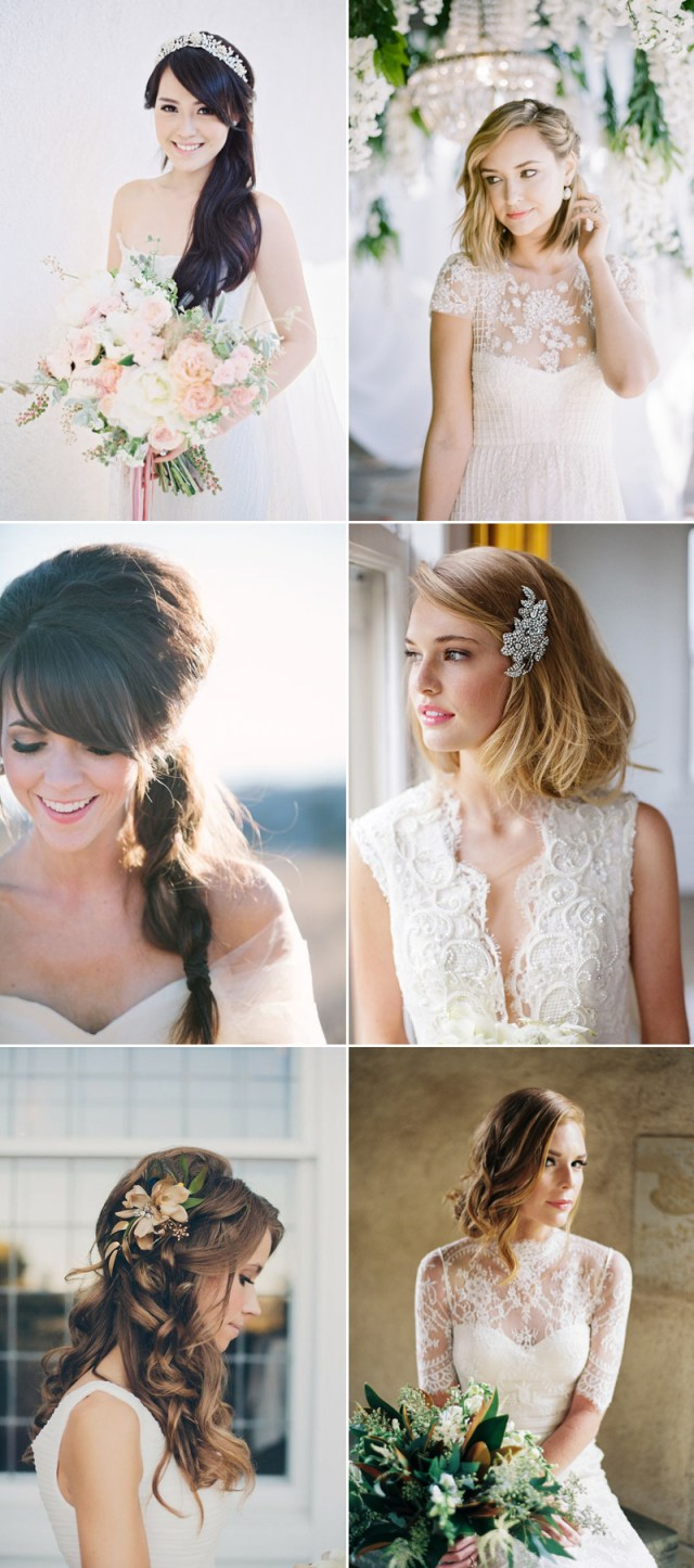 how to find the right wedding-day hairstyle? the most