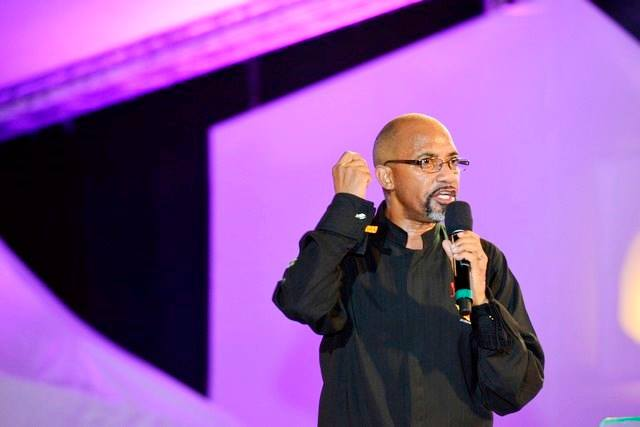 "Bishop Tudor Bismark delivering his sermon. ""The next 10years, the Continent of Africa will not be the same.......the Lord will take you to a place no generation has been"""