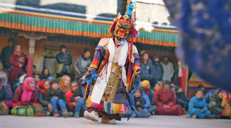 Mask Dance in Monastery, Leh