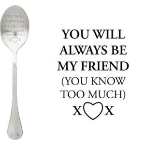 Message spoon my friend