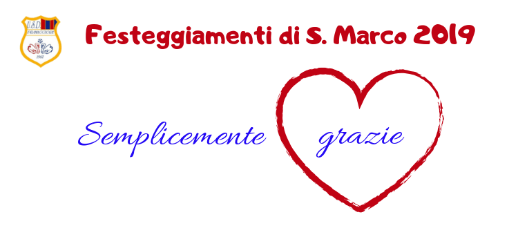 Ringraziamento ospiti e lavoratori Festeggiamenti di S. Marco 2019