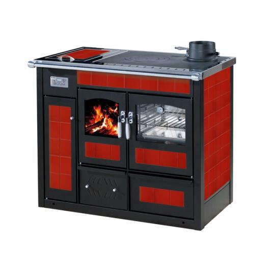 Termocucina a legna KLOVER ALTEA con forno rivestimento