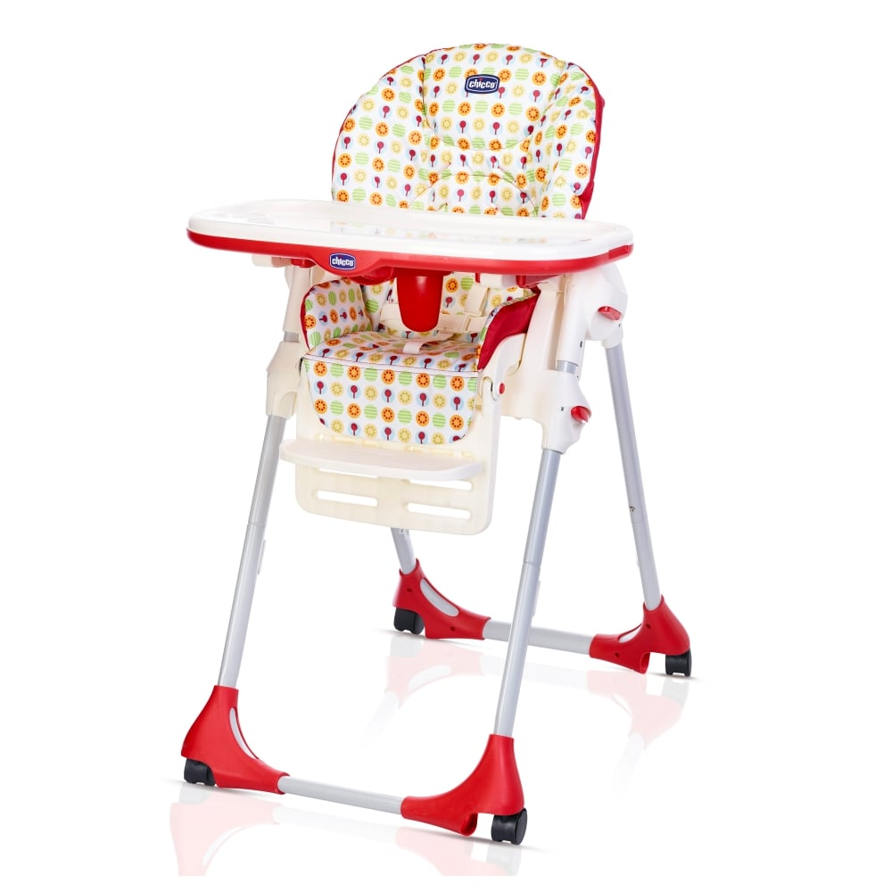 Chicco Polly Easy Highchair  4 Wheels  High Chairs