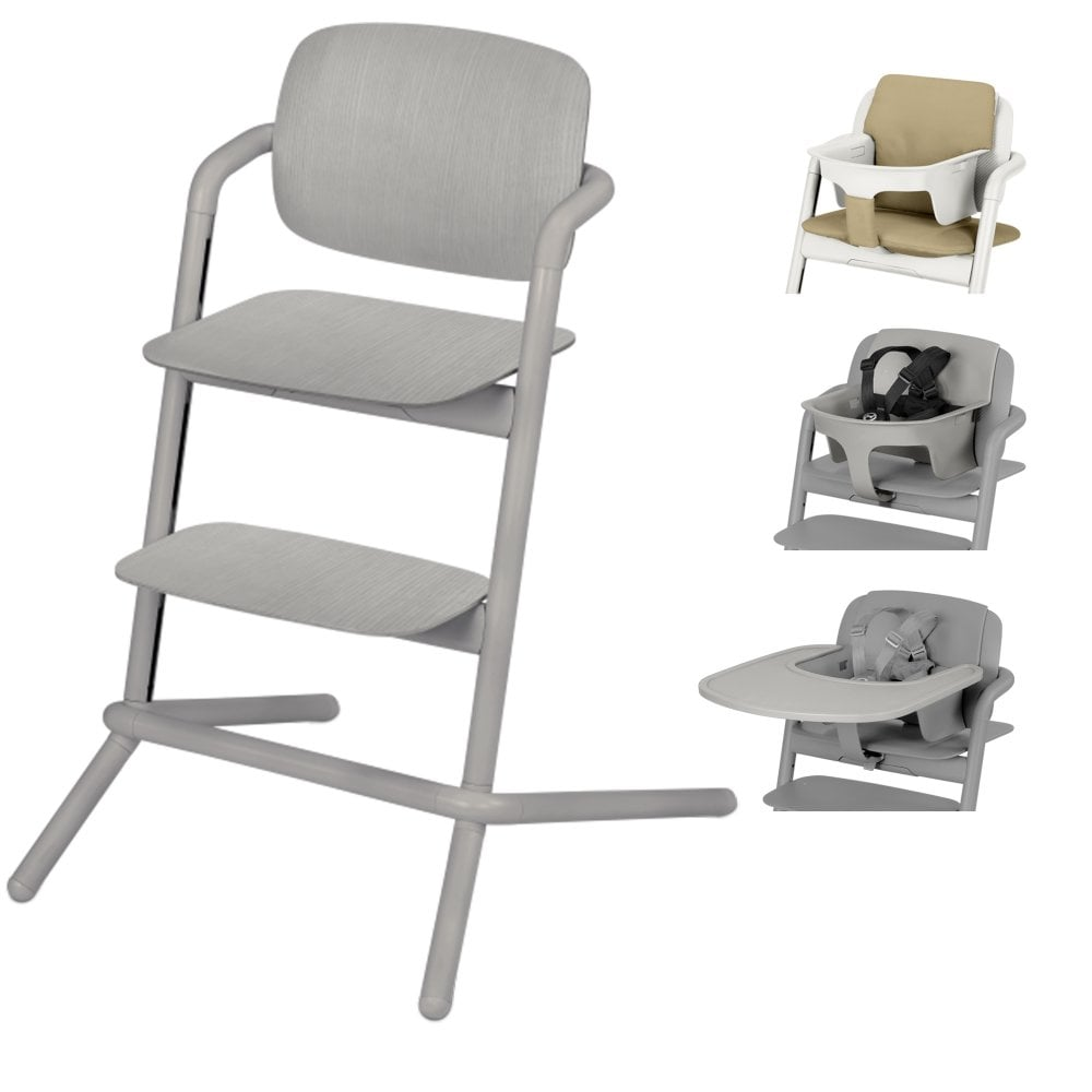 wooden high chair uk purple bows cybex lemo wood highchair baby seat tray pale beige comfort inlay storm grey