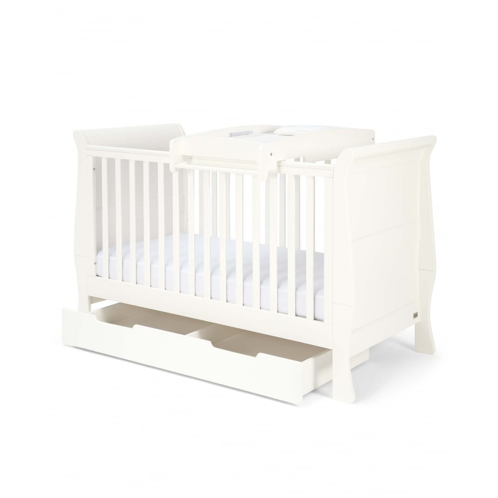 Mamas & Papas Mia Sleigh Cot Bed Package with Storage and