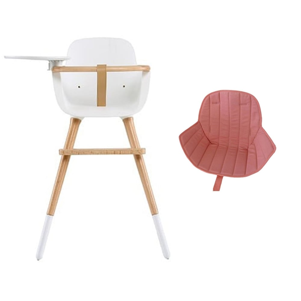 high chairs uk fishing chair carry strap micuna ovo luxe with leatherette harness pink feeding from pramcentre
