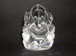 quartz crystal ganesh statue