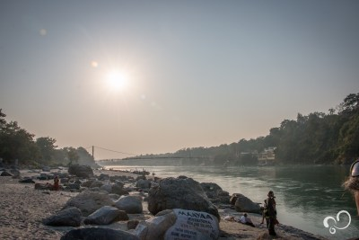 Pôr do sol em Rishikesh.