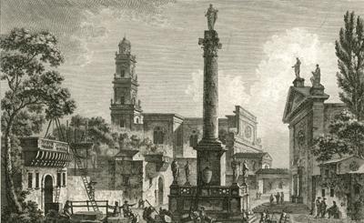 Una scena urbana settecentesca di Maglie nella porcellana inglese