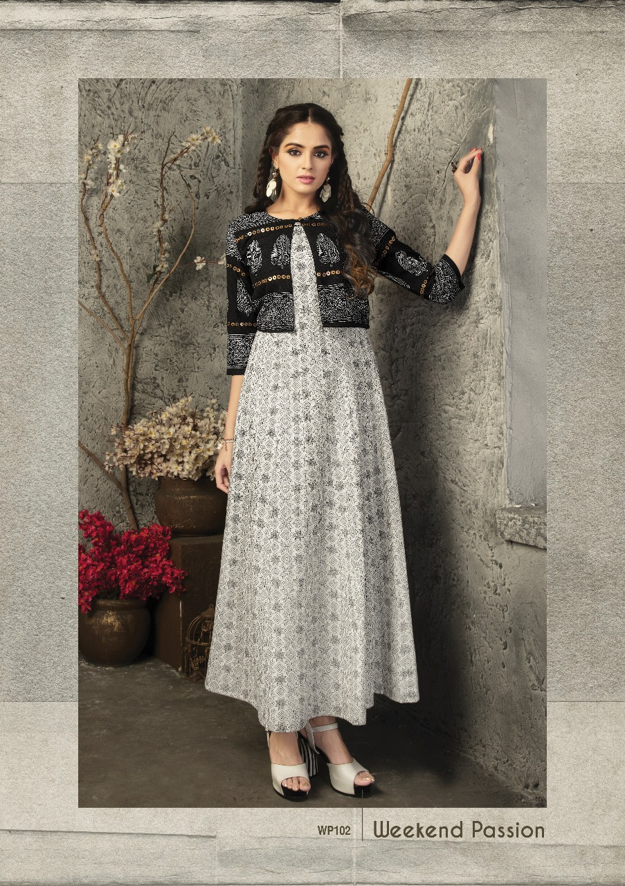 3b612163c1 DOWNLOAD ZIP · DOWNLOAD PDF S4u Shivali weekend passions catalog rayon  Kurtis Wholesale Supplier india