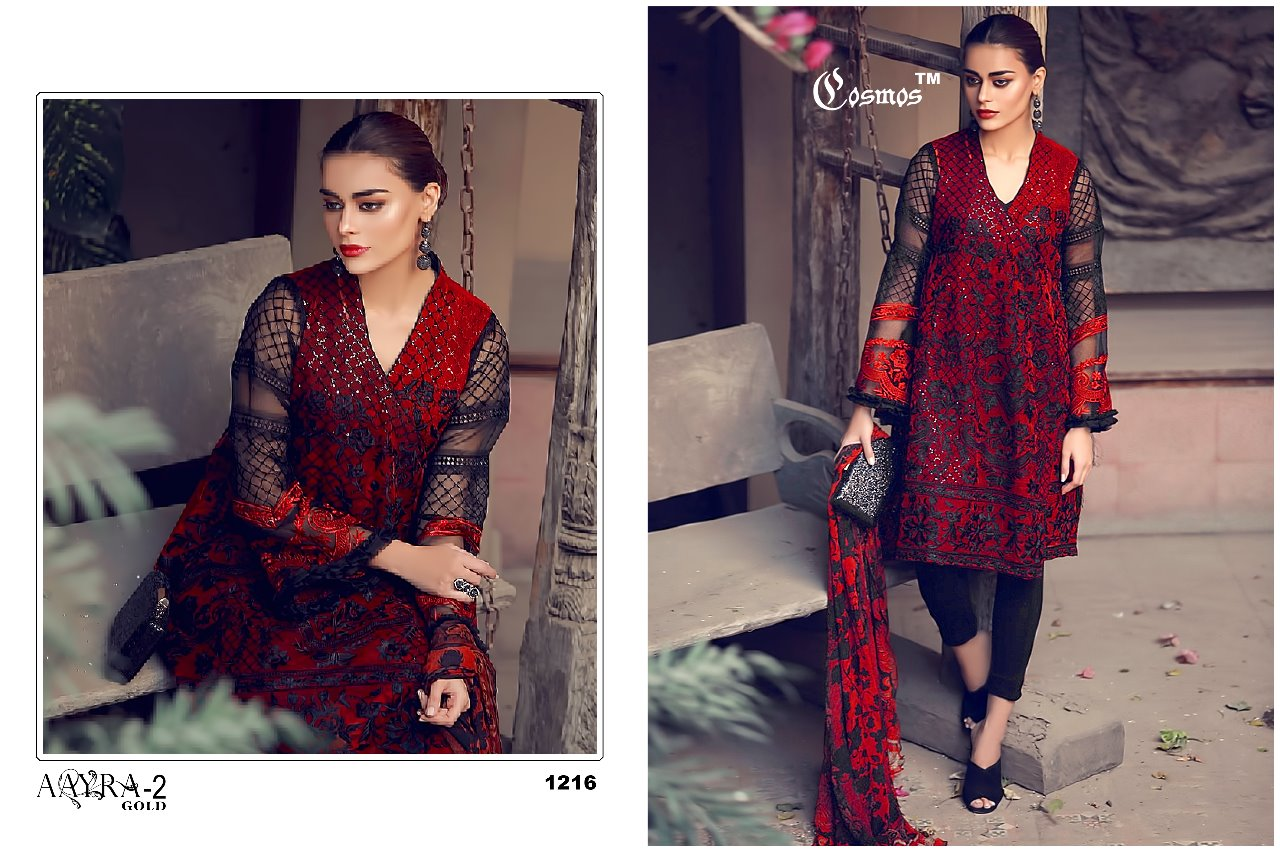 bb82557297 Cosmos aayra 2 gold pure pakistani suits Wholesale dealer Supplier.  DOWNLOAD ZIP