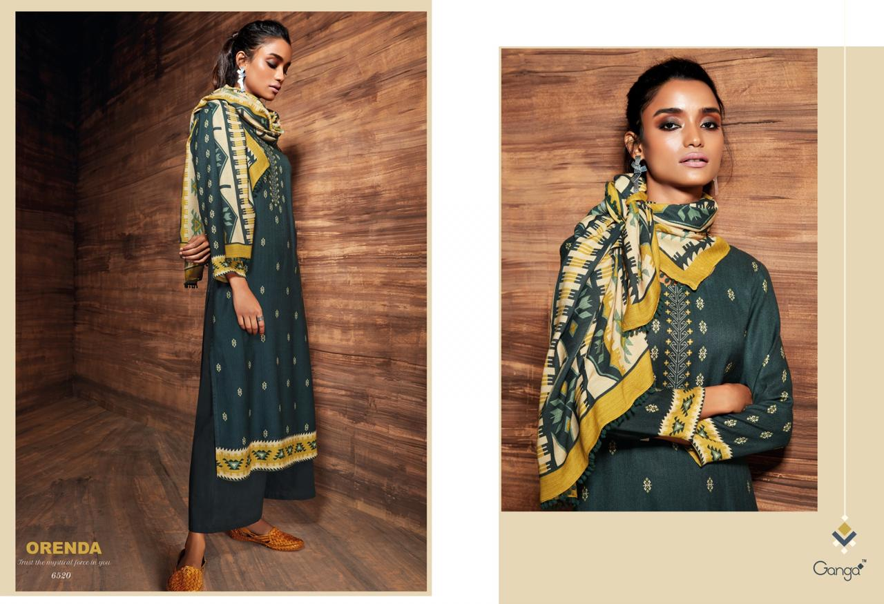 10f9d891bf Ganga launch orenda Catalog pure wool pashmina prints suits Collection.  DOWNLOAD ZIP